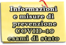 Informazioni e misure di prevenzione infezione COVID-2019
